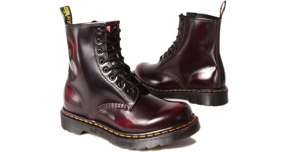 704fa7506d3be2 Lyst - Dr. Martens Boot in Cherry Red Arcadia in Red