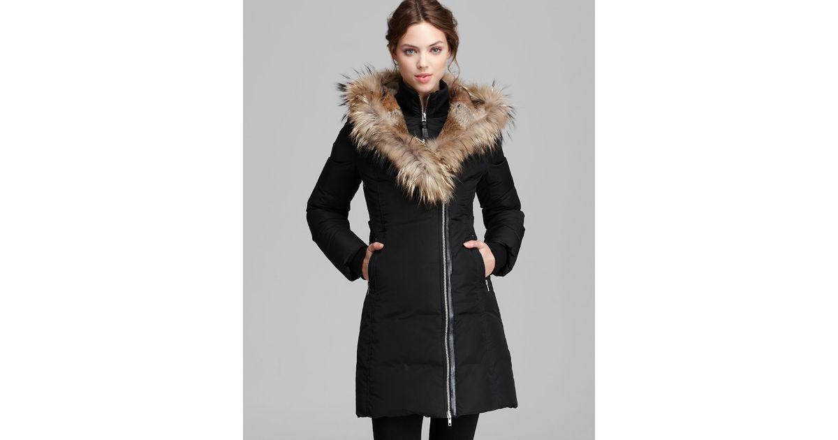 9c5f5f6737fd coupon for lyst mackage down coat trish lavish fur trim hood in black 803ec  3b6fe