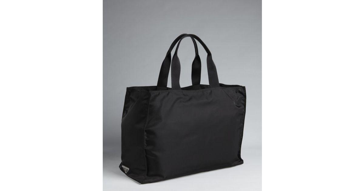 Lyst - Prada Black Nylon Oversized Top Handle Tote in Black for Men d26cbd63374e0