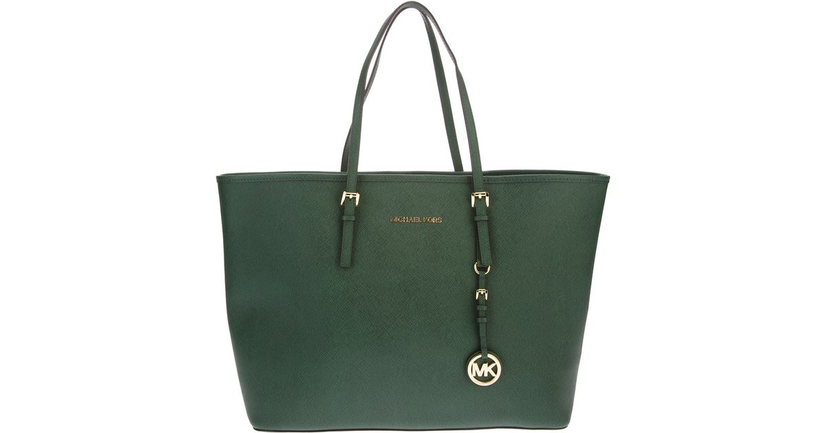 7d69166d6aae Lyst - Michael Kors Tote Bag in Green
