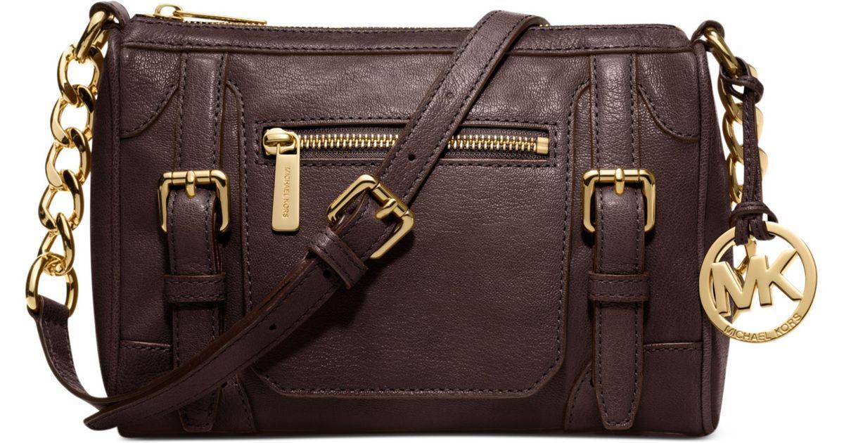 d070b7f0736dc6 Lyst Michael Kors Mcgraw Medium Messenger Bag In Brown