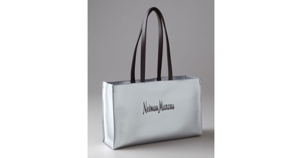 1d8d8a8b2 Neiman Marcus Medium Nm Shopping Tote in Metallic - Lyst