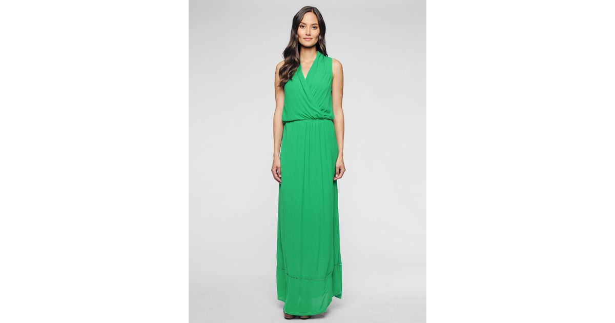 Ella moss Stella Maxi Dress in Green | Lyst