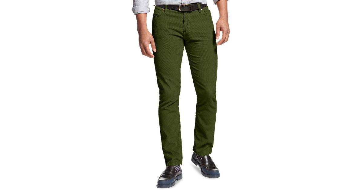 ececae5db4c40 Tommy Hilfiger Gage Rebel Slim Corduroy Pant in Green for Men - Lyst