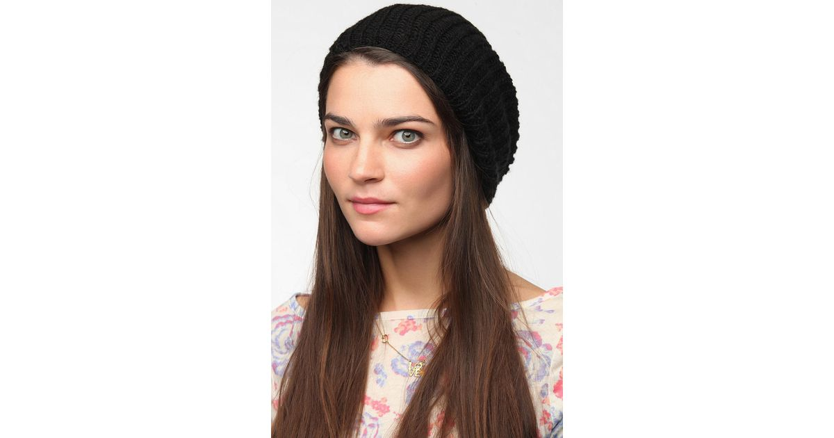 1bc110e58e4 Lyst - Urban Outfitters Bdg Slouchy Beanie in Black