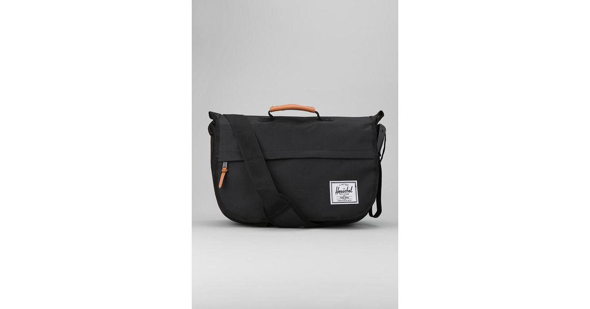 34fed7beea2 Lyst - Herschel Supply Co. Mill Messenger Bag in Black for Men