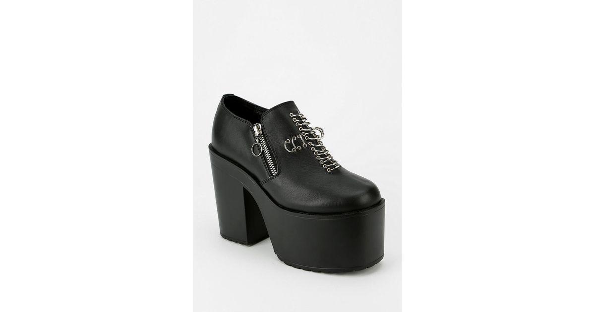 Lyst Urban Outfitters Unif Grail Platform Heel In Black