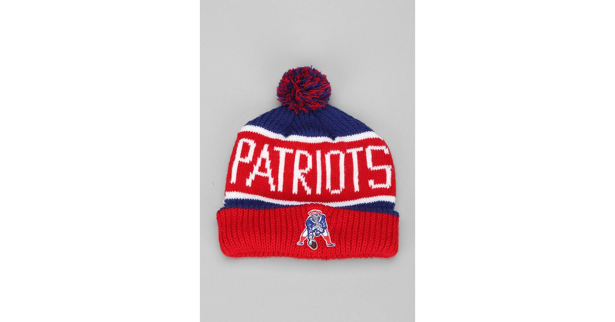 096d35ed4d1978 Urban Outfitters 47 Brand Calgary New England Patriots Beanie in Red for  Men - Lyst