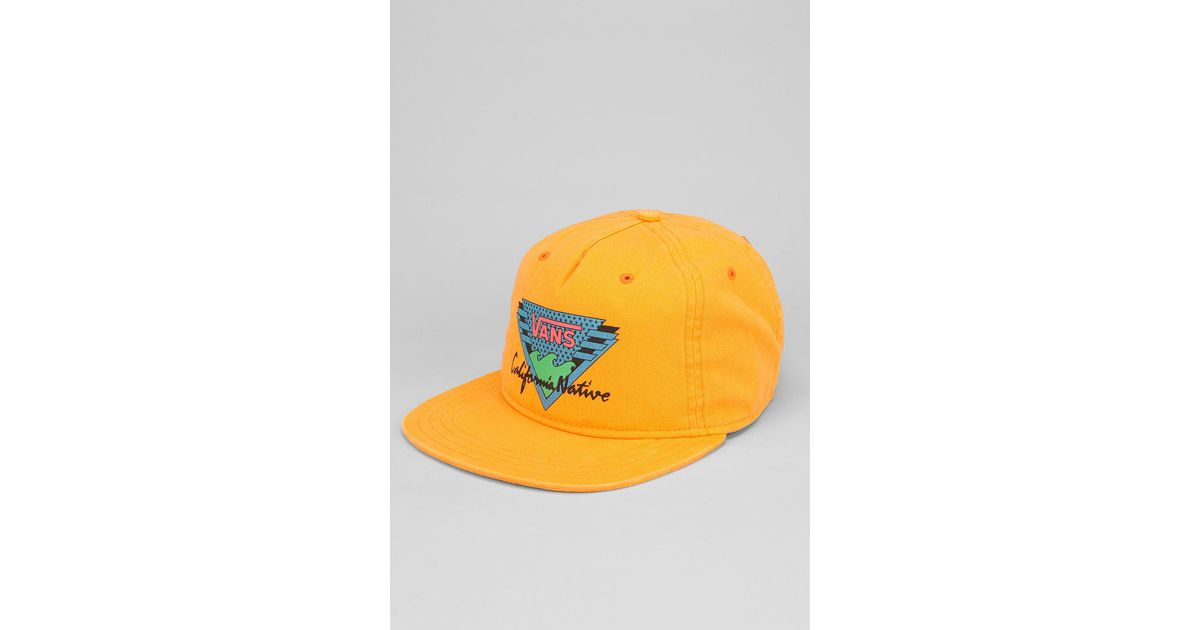 Lyst - Urban Outfitters Vans California Native Snapback Hat in Orange for  Men 428d0ef046b