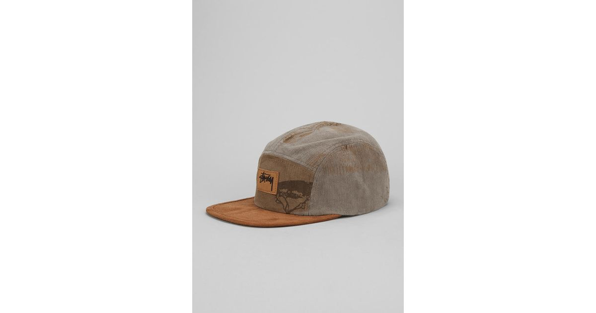 915e3cb6384 Lyst - Urban Outfitters Stussy Savannah Corduroy 5panel Hat in Gray for Men