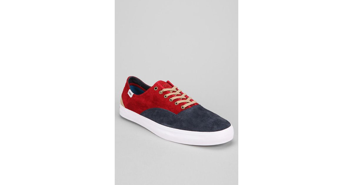 27dcc8b6c8 Lyst - Urban Outfitters Otw By Vans Prescott Sneaker in Red for Men