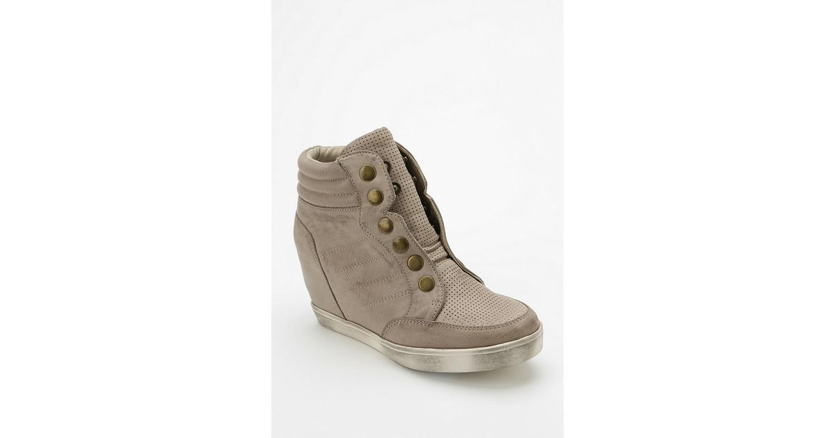80cd2bc8a0a7 Lyst - Urban Outfitters Mia Flavor Snap Hidden Wedge Hightop Sneaker in  Natural