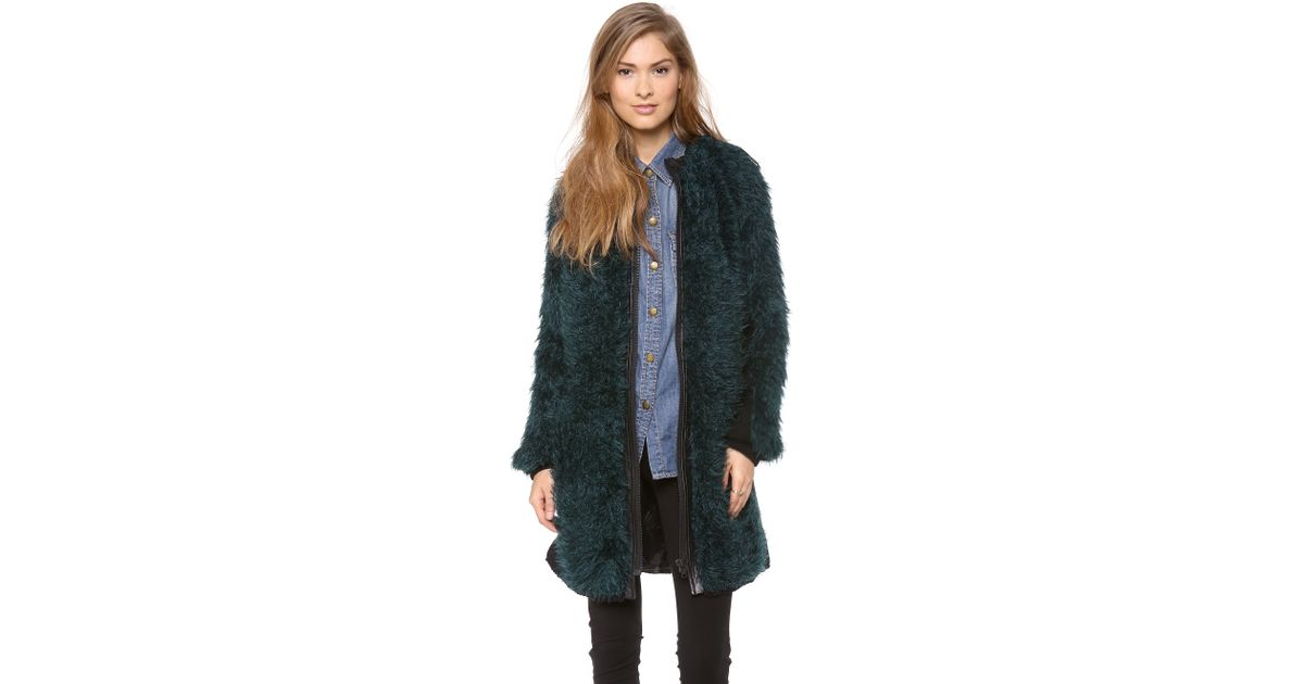 Forest green coat