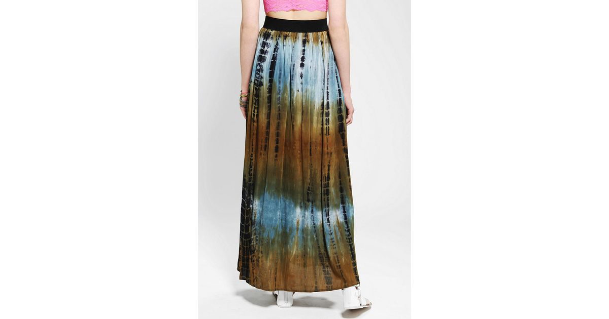 6879974de Urban Outfitters Staring At Stars Tie-dye Maxi Skirt in Green - Lyst