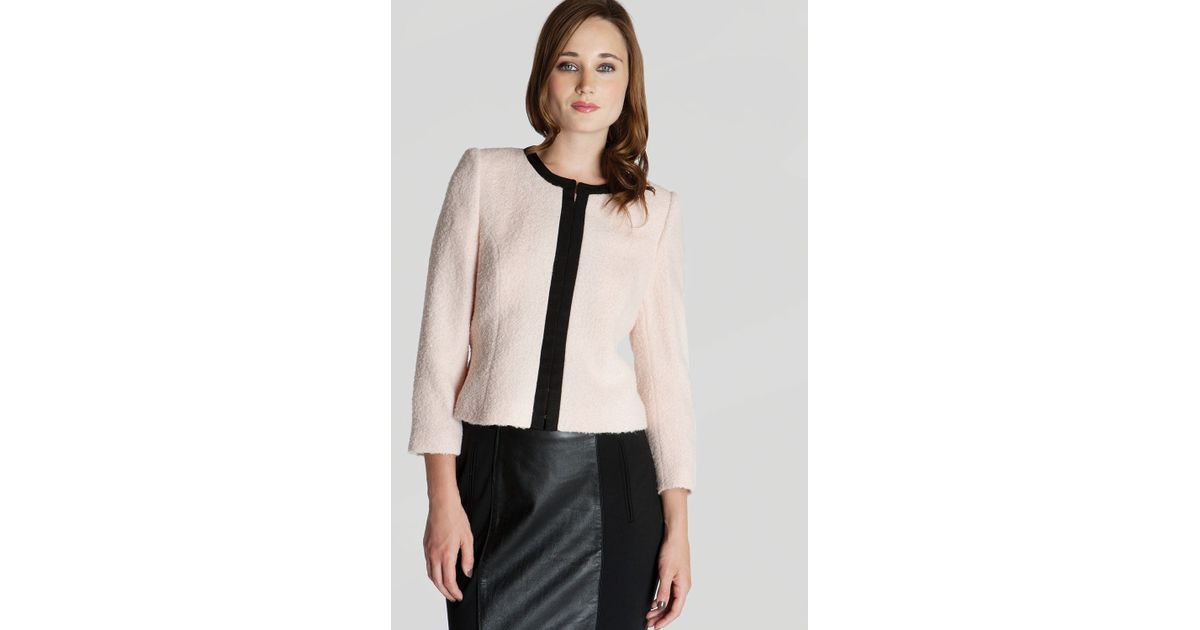 b88b2ad6c9e33a Lyst - Ted Baker Jacket Kerisa Cropped Neon in Natural