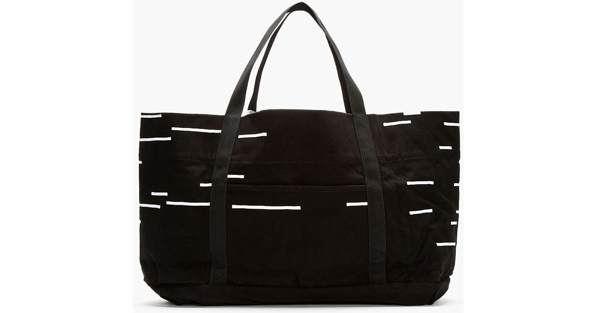 Lyst - DRKSHDW by Rick Owens Black and White Canvas Extra Large Tote in  Black for Men 7203f80007af7