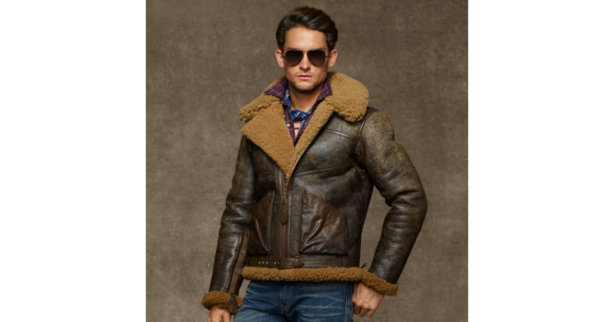Lyst Polo Ralph Lauren Dover Shearling Bomber Jacket In