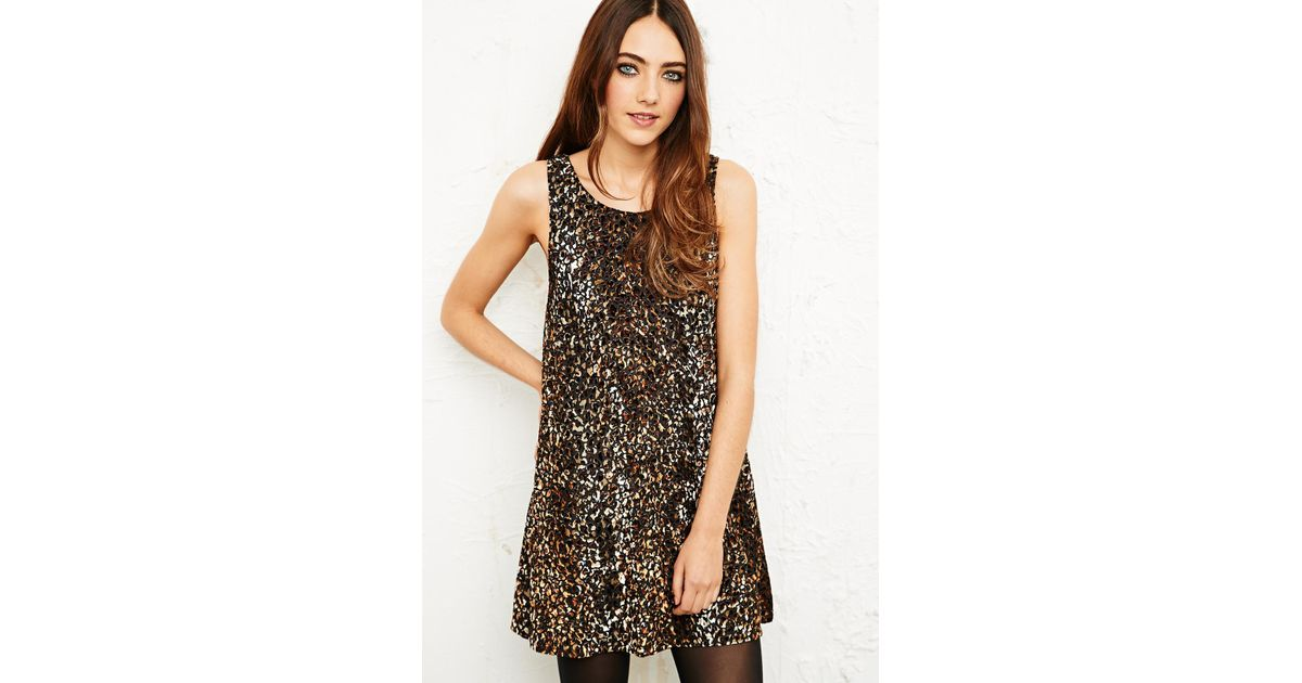 MINKPINK - Brown Burnout Velvet Dress in Leopard Print - Lyst 1d1c4bcf3