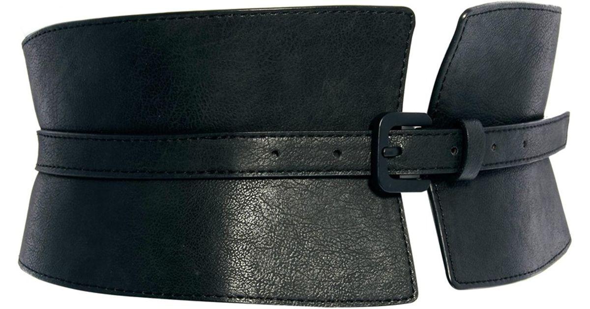 55812d1b0b Lyst - ASOS Wide Waist Cincher Buckle Belt in Black