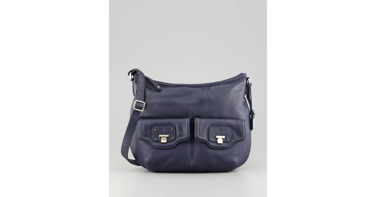 3e45ceb2b1e Cole Haan Vintage Valise Leather Crossbody Bag Pacific in Blue - Lyst