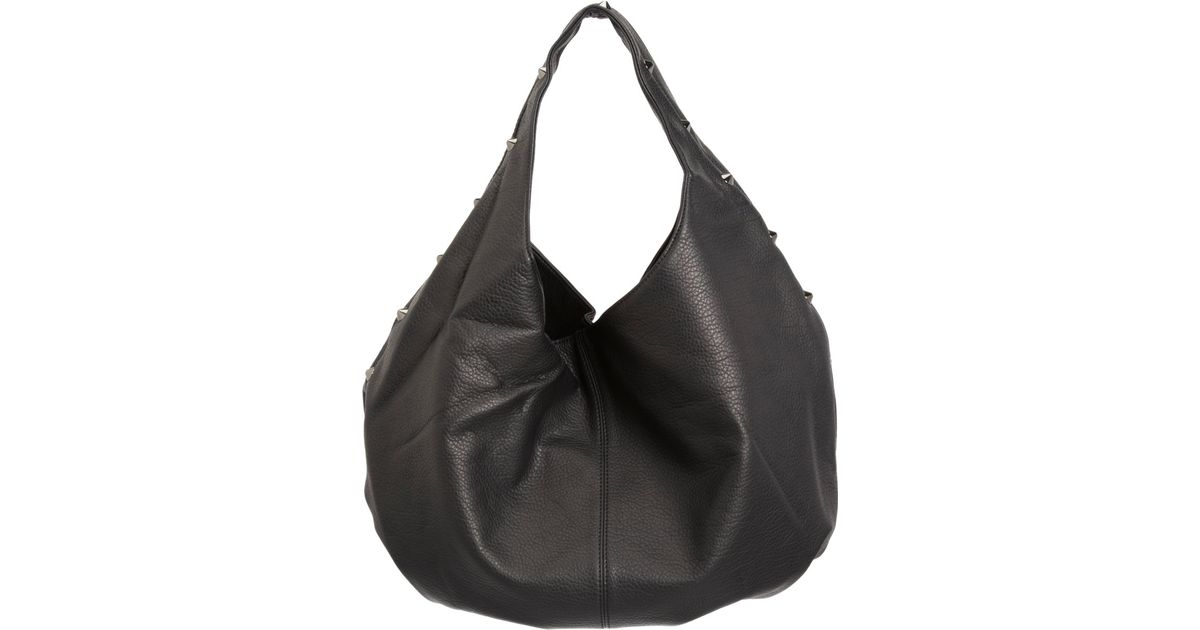 94f999eb4a43 Lyst - Deux Lux Oversized Stud Empire Hobo Bag in Black