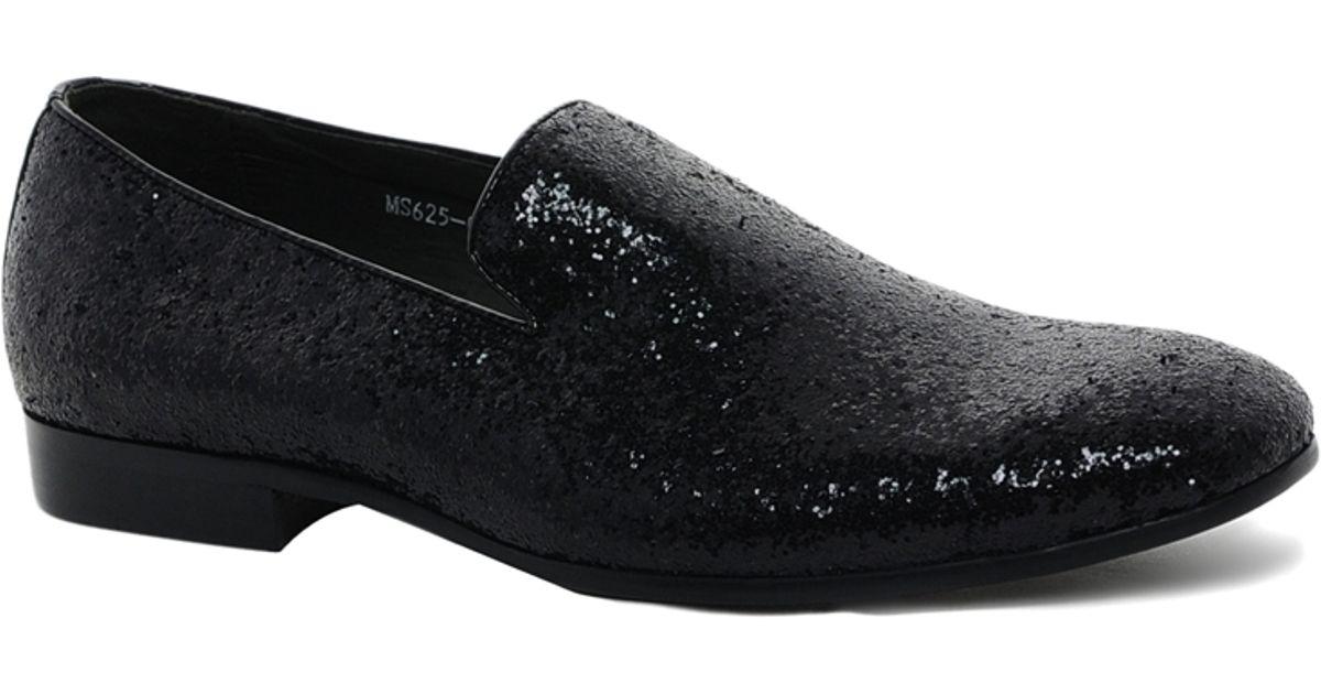Lyst Dune Glitter Dress Slippers In Black For Men