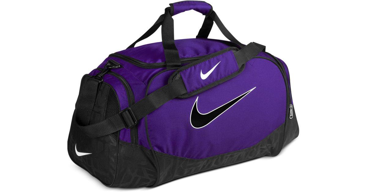1d535fb659f7 Lyst - Nike Medium Logo Duffle Bag in Purple for Men