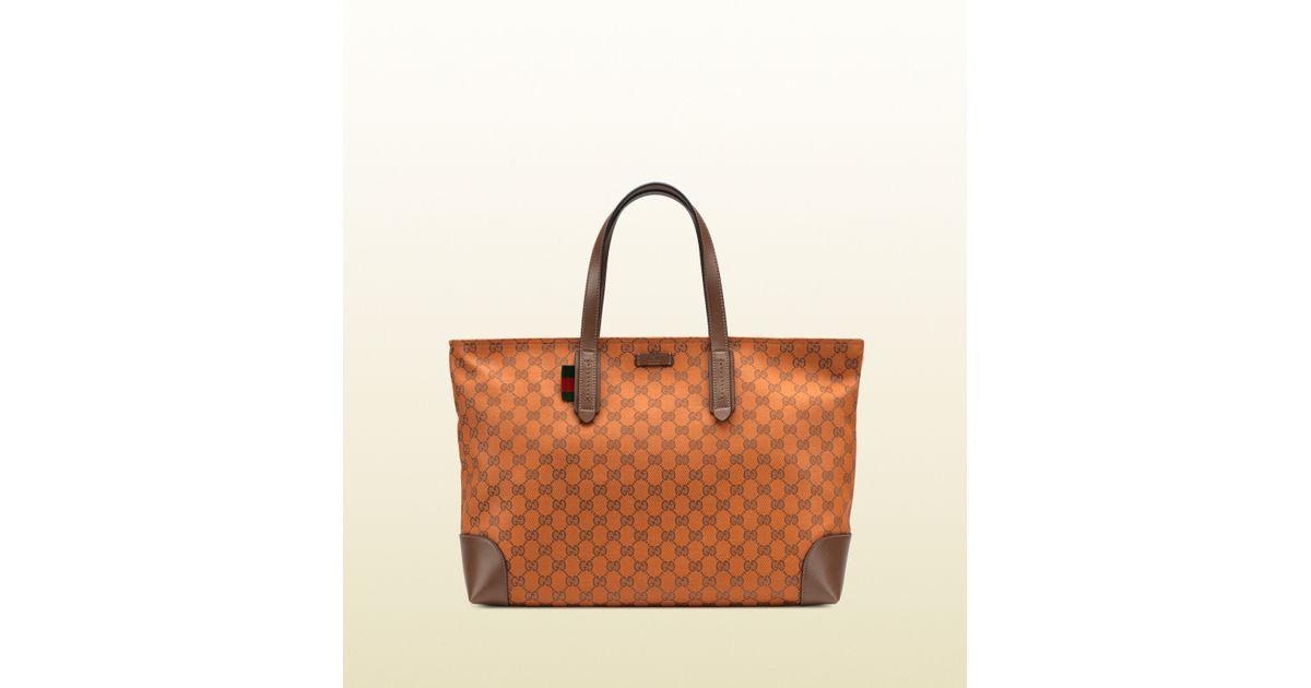 Lyst - Gucci Orange Original Gg Canvas Tote in Orange for Men 1faafecd3e506