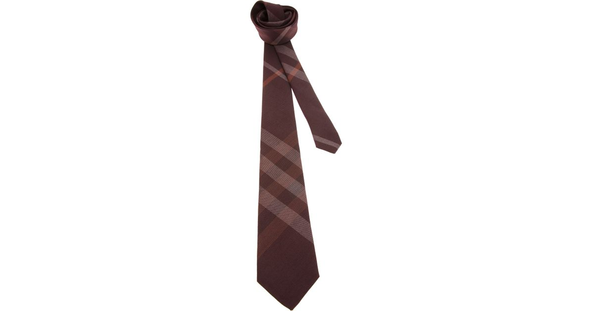 0ac6c57c908d ... best burberry check tie in red for men lyst 9726a a3782