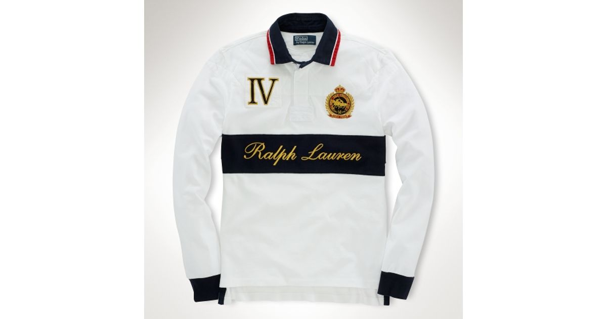 20bf0e3f04e ... ireland lyst polo ralph lauren custom fit snow polo rugby in white for  men cbc7b 7814a