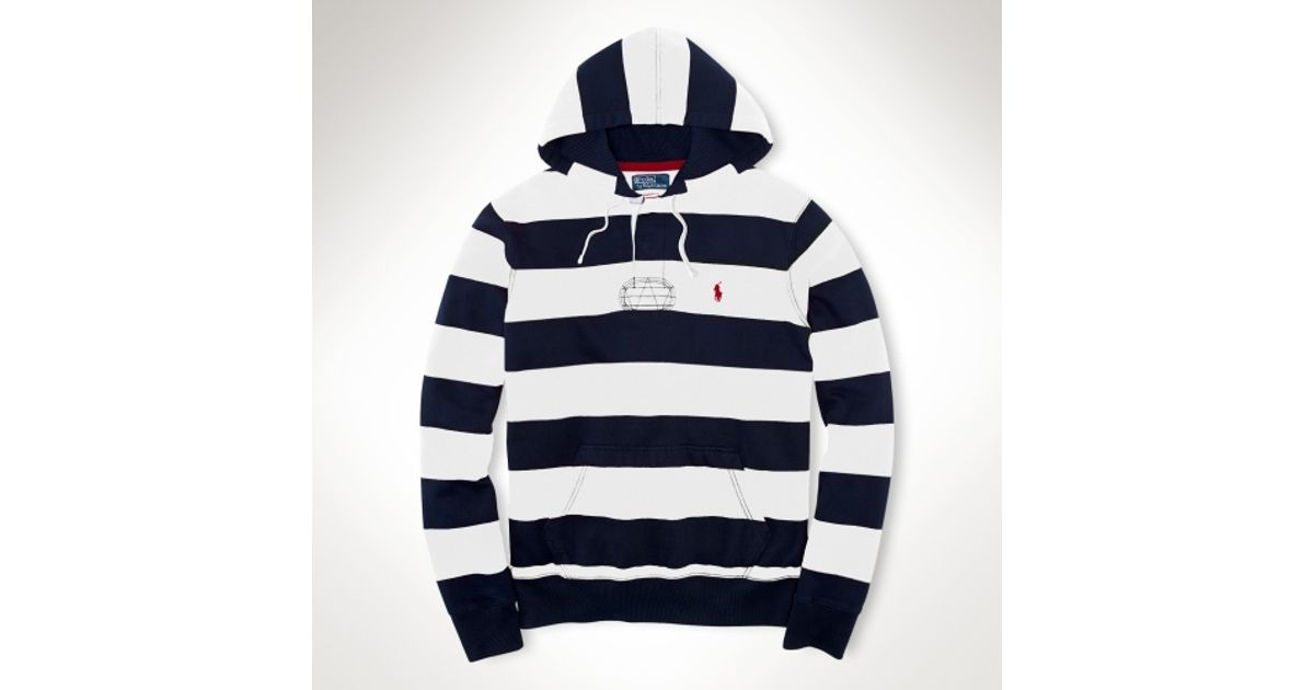 Lyst - Polo Ralph Lauren Fleece Rugby Hoodie in White for Men a82511186