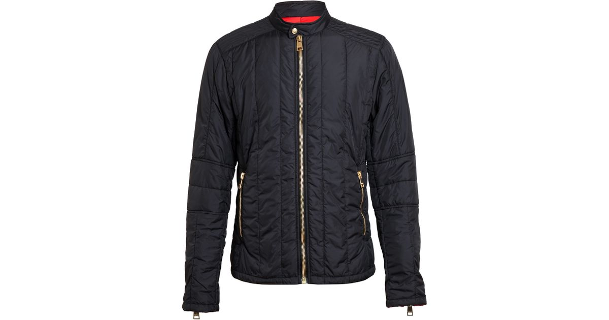 Versus Quilted Racing Jacket in Black for Men | Lyst : quilted racing jacket - Adamdwight.com