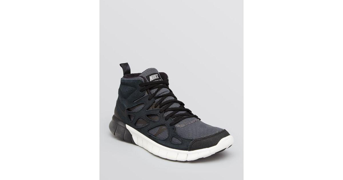 buy online 6096e 97c41 Lyst - Nike Free Run V2 Mid Sneakers in Gray for Men