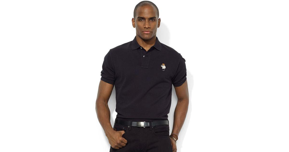 Ralph lauren Classicfit Shortsleeve Polo Bear Polo in Black for Men | Lyst