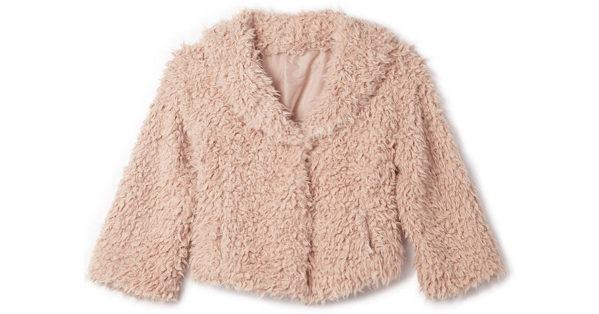 Forever 21 Boho Babe Fuzzy Jacket in Pink | Lyst
