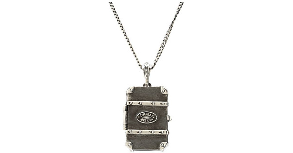 Lyst king baby studio trunk pill box pendant necklace in metallic lyst king baby studio trunk pill box pendant necklace in metallic for men aloadofball Choice Image