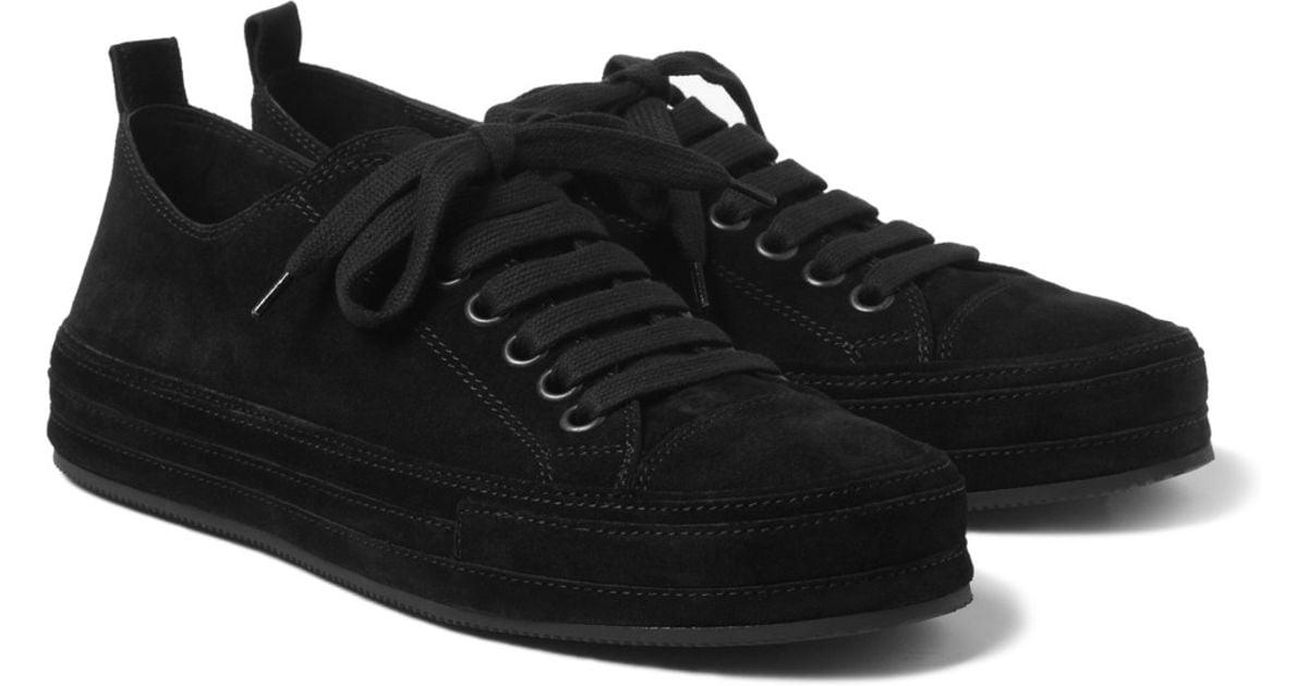 Black Suede Sneakers Ann Demeulemeester 52zfJ1