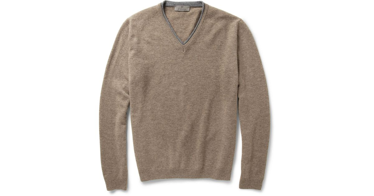 Slim-fit Mélange Wool Sweater Canali Free Shipping Pick A Best cXW0OdVS