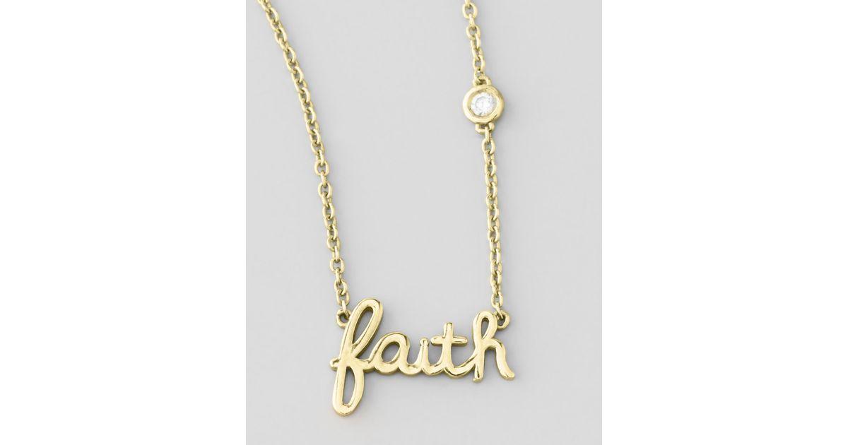 Lyst shy by sydney evan faith pendant bezel diamond necklace in lyst shy by sydney evan faith pendant bezel diamond necklace in metallic aloadofball Image collections