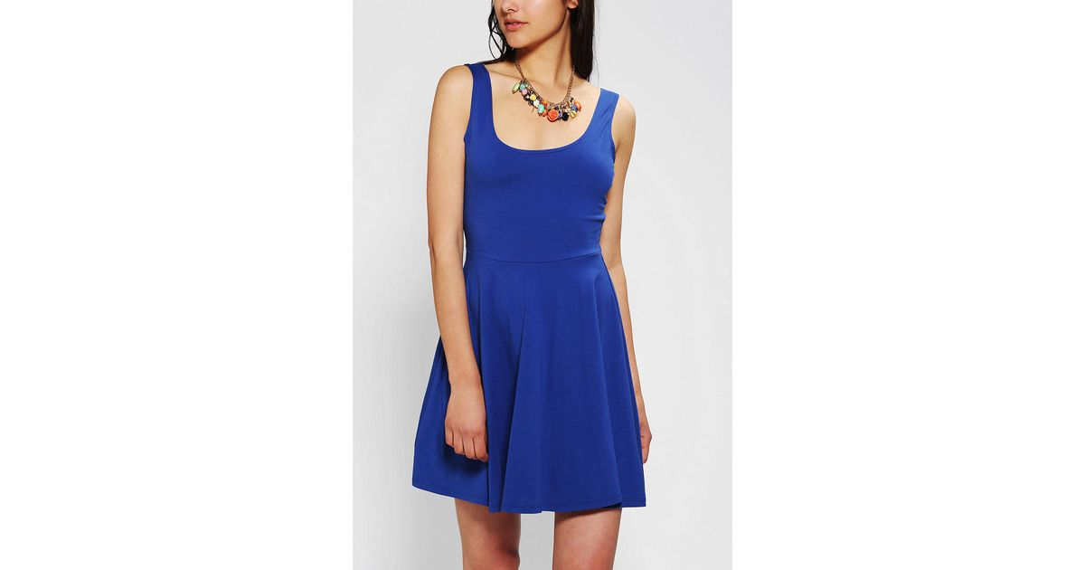 c04c717b4d Urban Outfitters - Blue Sparkle Fade Knit Skater Dress - Lyst