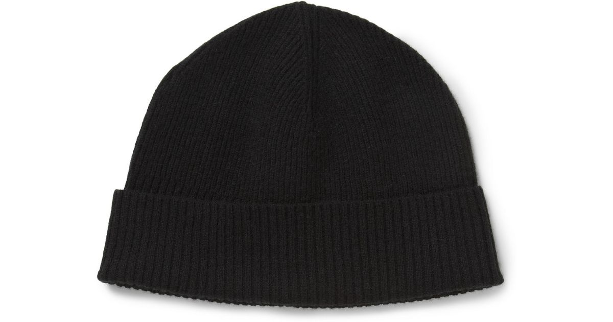 c38edc17a98 Marc By Marc Jacobs Morristown Ribbed Cashmere Beanie Hat in Black for Men  - Lyst
