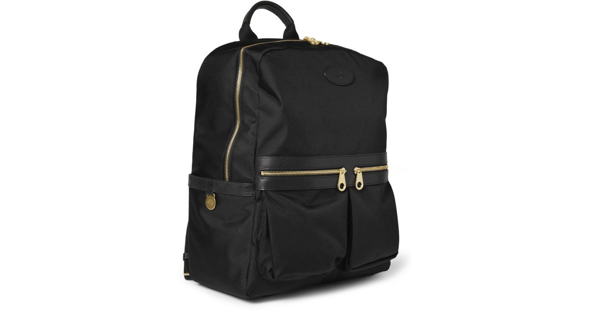 ... usa lyst mulberry henry leather trimmed nylon backpack in black for men  9e021 4ff76 2069bbbf52be0