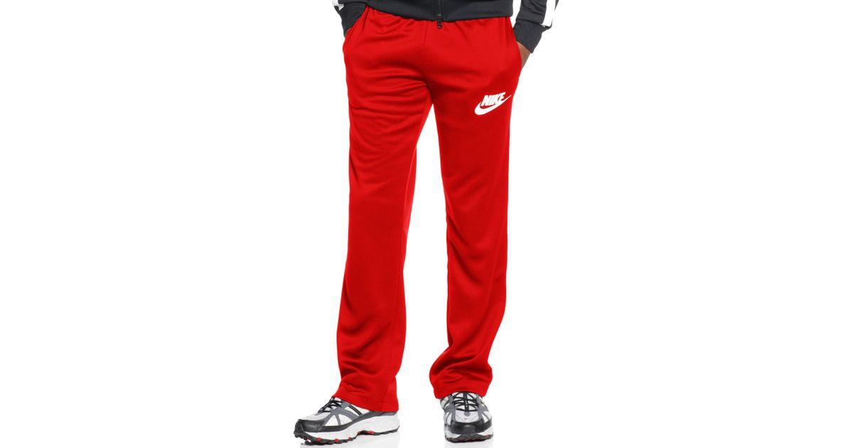 28bebc583d23 Lyst - Nike Logo Track Pants in Red for Men
