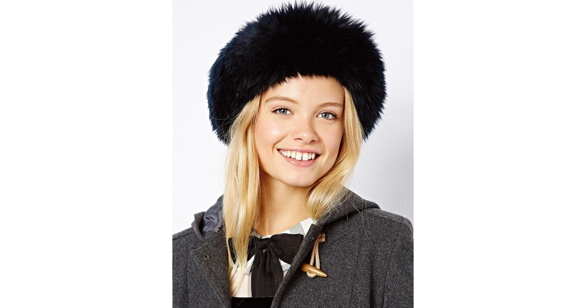 Lyst - ASOS Leather Cossack Hat in Black 45e804401d1
