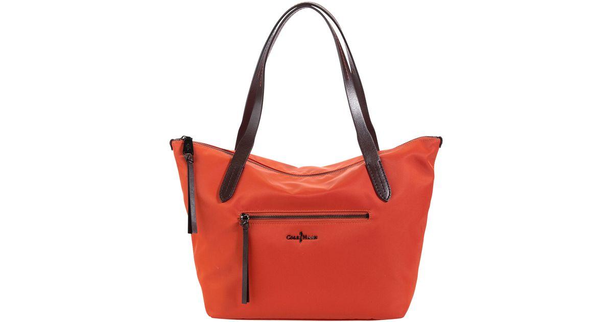 1c17c2be0c Cole Haan Parker Small Nylon Ziptop Tote Bag Orange In Lyst