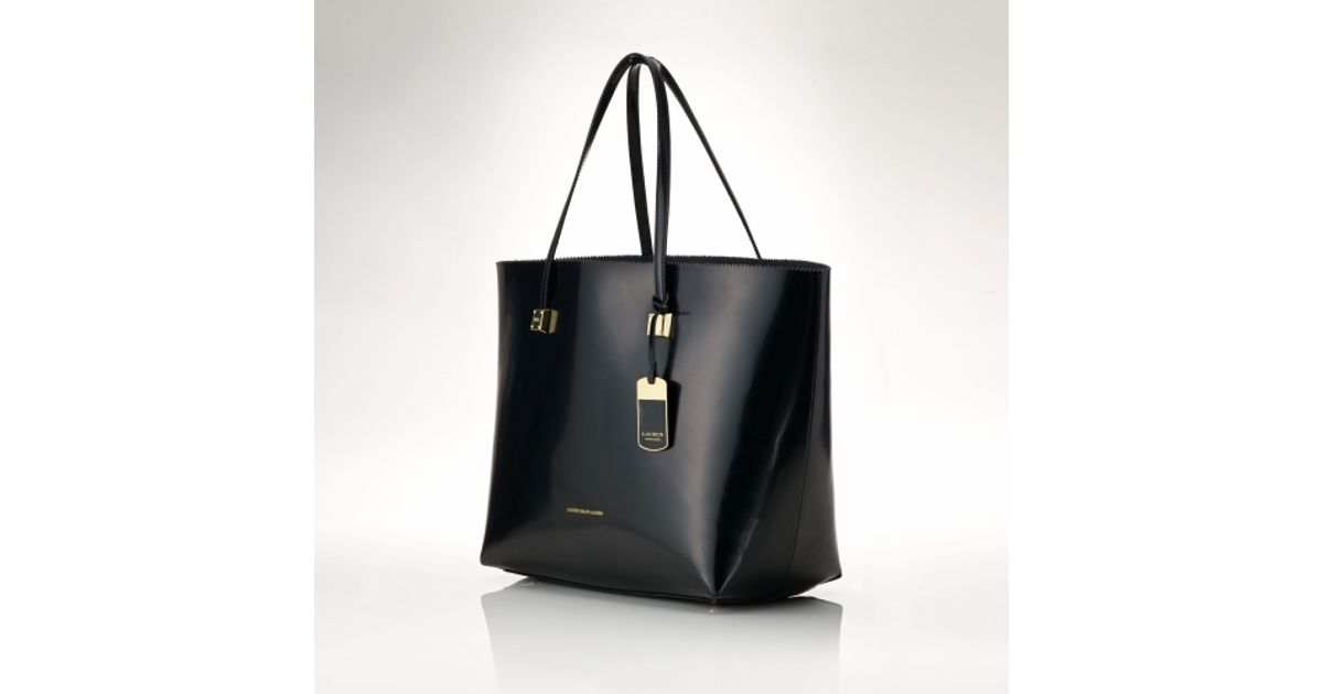 f07d8e0044fc Lyst - Lauren by Ralph Lauren Spazzolato Fulham Tote in Black