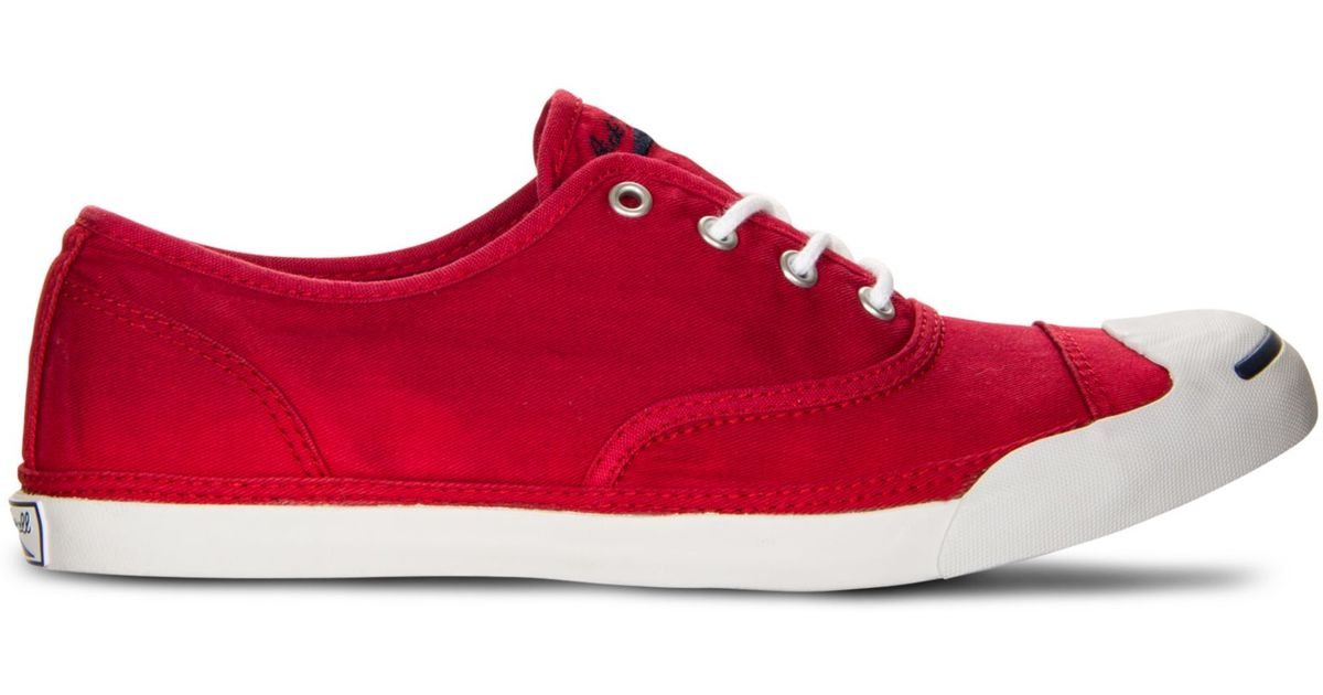 b367f866cff ... canada lyst converse jack purcell cvo lp sneakers in red for men ab70a  1469c ...