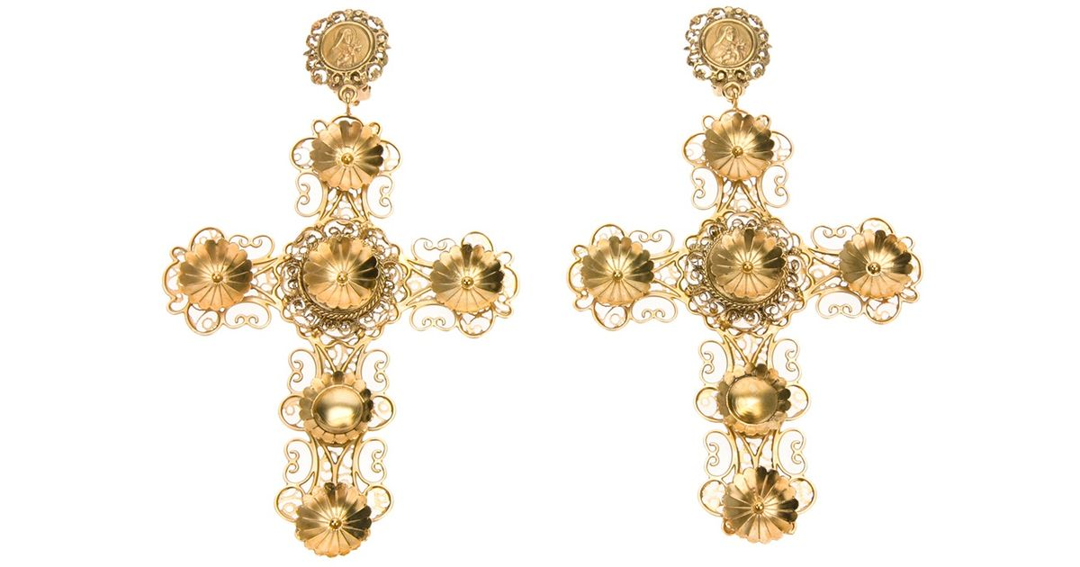 shopping dolce item women and farfetch gabbana clip hoop on earrings flower