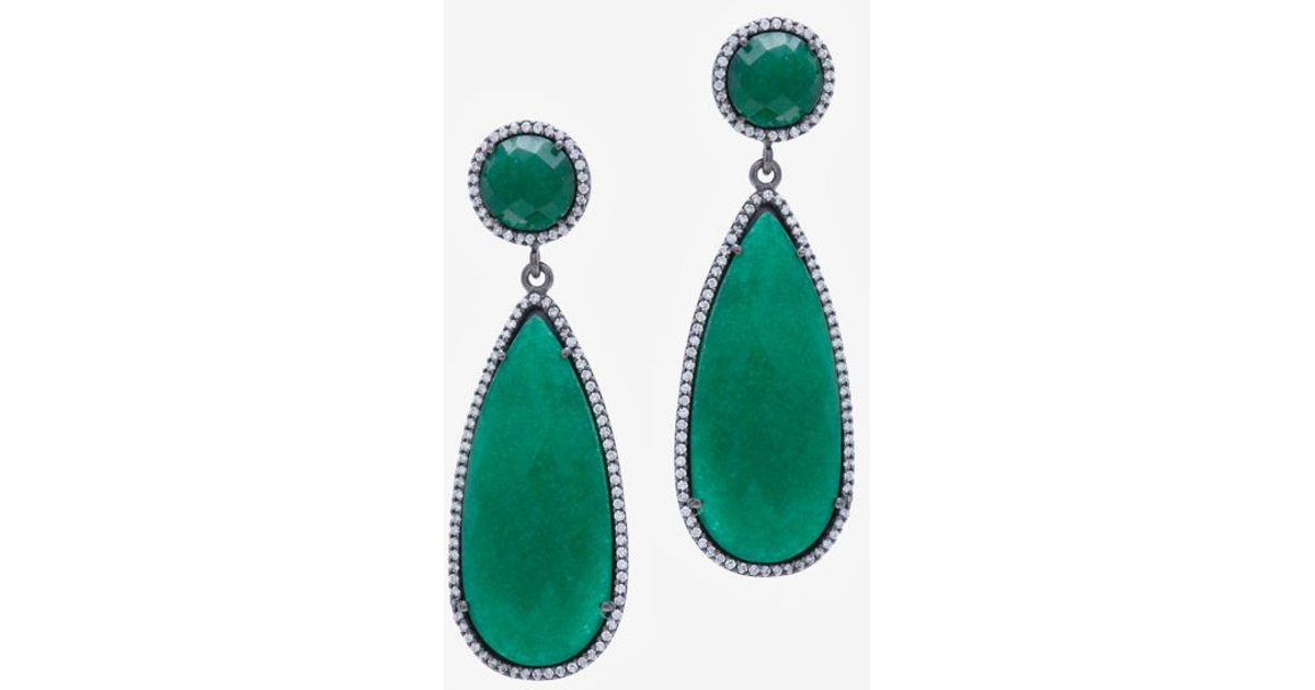 Sole Society Womens Le Gala Velvet Statement Earrings Emerald One Size From Sole Society qMNX0ZIcj