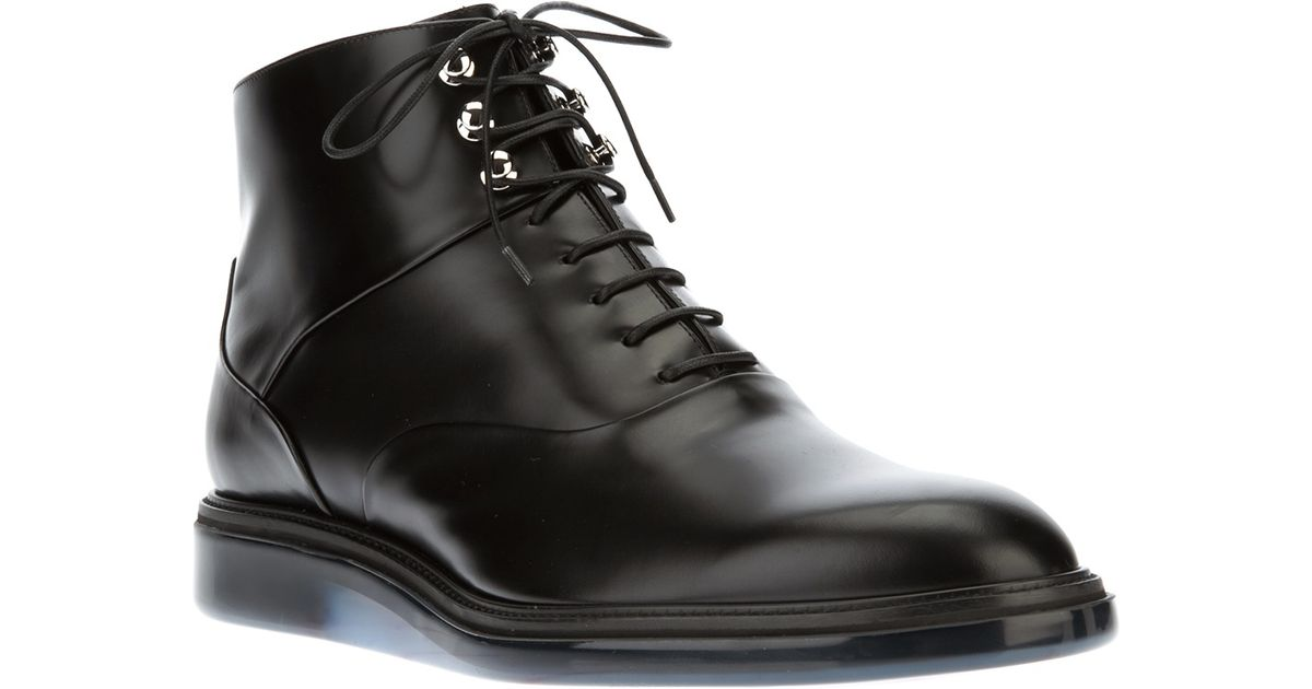 fd01a8df672 Dior Homme Laceup Boot in Black for Men - Lyst